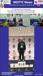 maryland table tennis center senior national chions and maryland state chions crowned