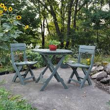 Folding Patio Bistro Set Adams Manufacturing Quik Fold Sage 3 Piece Patio Cafe Set 8590 01