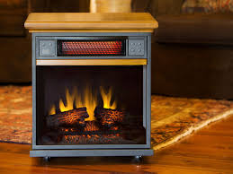 portable fireplace spencer 20 in 1 000 sq ft oak portable fireplace infrared heater