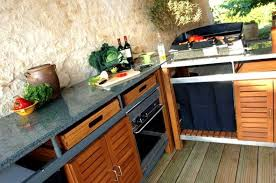 meuble cuisine teck cuisine d t barbecue en acier inox et teck meuble ete newsindo co