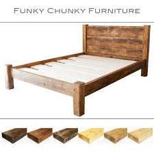 Assemble King Size Bed Frame Solid Wooden Chunky Bed Frame In A Choice Of Sizes Single