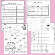ue ui and ew vowel digraphs posters and worksheets by teaching