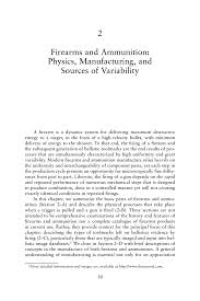 Physics Reference Table by 2 Firearms And Ammunition Physics Manufacturing And Sources Of