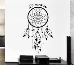 gargoyle home decor feathers dreamcatcher wall sticker with english quotes for native