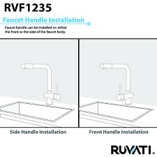 ruvati rvf1235bn single handle pullout kitchen faucet u2013 stainless