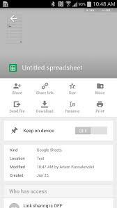 Google Spreadsheets App Google Sheets For Android Gets Huge Update With Android L Support