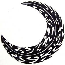 tribal crescent moon designs related keywords suggestions