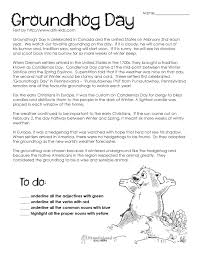 groundhog day comprehension worksheets google search ground