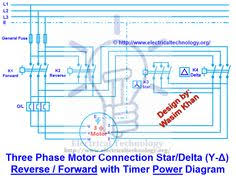 three phase motor connection star delta y δ reverse forward
