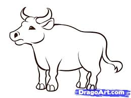 how to draw coloring pages how to draw an ox step by step farm animals animals free