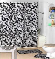 zebra bathroom ideas zebra print shower curtain home interiors