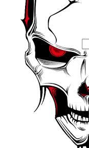 illustrate a malevolent skull in 8 steps go media creativity
