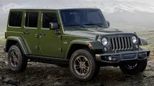 toyota jeep 2016 jeep 75th anniversary special edition models unveiled
