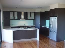 blue grey themes for two toned cabinets in kitchen on laminate