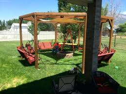arbor swing set plans best 25 pergola swing ideas on pinterest