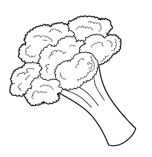 broccoli coloring page coloring home