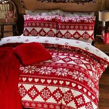 Brushed Cotton Duvet Cover Double 51 Best Christmas Bedding Images On Pinterest Christmas Bedding