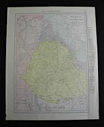 Rit Map Maps Antique Country Ethiopia