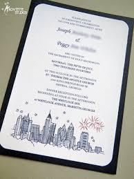 wedding invitations atlanta atlanta skyline wedding invitations architette studios