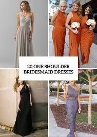 20 one shoulder bridesmaid dresses for fall weddings weddingomania