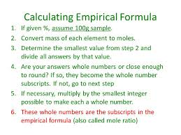 percent composition empirical formula and molecular formula