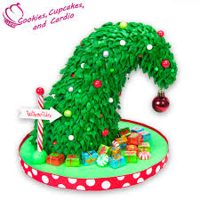 grinch christmas tree cake
