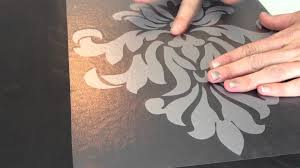 applying die cut wall decals to canvas part 1 youtube