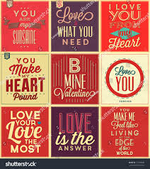 vintage quote backgrounds set vintage typographic backgrounds love quotes stock vector