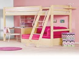 bedroom wonderful wyatt white loft bed unit with desk and chair