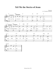 tell me the stories of jesus free printable sheet music and song