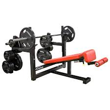 olympic decline bench with plate storage legend fitness