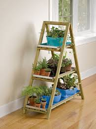 Herb Shelf A Frame Plant Stand And Tray Set Ladder Plant Stand