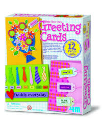 make your own card 4m make your own greeting cards kit toys