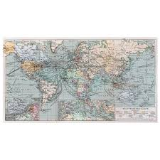 Large Vintage World Map by Vintage World Map Wall Mural Decal 100