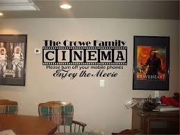 home theater room decorating ideas cinema theatre personalized sign home movie theater vinyl wall