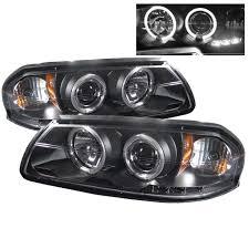 04 impala led tail lights spyder auto chevy impala 00 05 projector headlights led halo