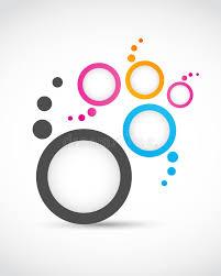 imagenes abstractas con circulos círculos abstractos de la insignia ilustración del vector