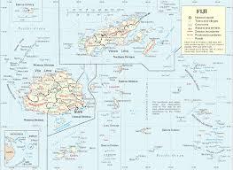 Fiji Islands Map Fiji Map Political Fiji Map Outline Blank