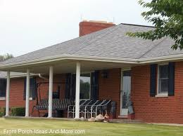 Hip Style Roof Design Ranch Home Porches Add Appeal And Comfort