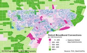 Detroit In World Map by Map Detroit U0027s Digital Divide Detroitography