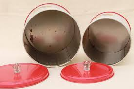 Kitchen Counter Canister Sets by Canister Set Tins W 1950s Retro Fruit Print Kitchen Counter