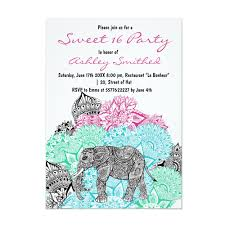 Sweet 16 Photo Invitation Cards Modern Party Invitations Girly Trend