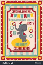 Birthday Invitation Card Design Kid Birthday Invitation Card Design Vector Stock Vector 121920682