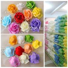 silk flowers bulk aliexpress buy 100 pcs foam flower heads bulk cheap