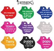 personalized engraving 2pcs lot pet identification tag dog name tag free personalized