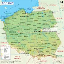 Map Of East And West Germany by Airports In Poland Poland Airports Map