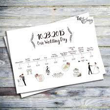 wedding day programs wedding timeline custom wedding program printable order of