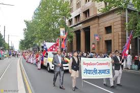 nepali diaspora participates in australia day celebration
