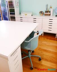 table with storage ikea diy craft table with storage my ikea hack jennifer maker