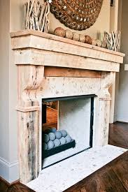 custom made reclaimed wood mantle tile surround